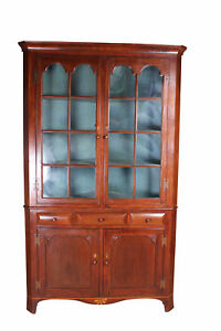 Early Pa Corner Cabinet