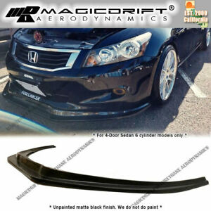 For 08 09 10 Honda Accord 4 door V6 Only Mda Style Front Bumper Splitter Lip Jdm