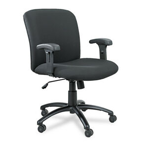 Safco Uber Series Big Tall Swivel tilt Mid Back Chair Black 3491bl New