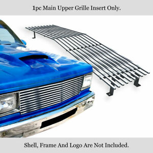 Fits 1982 1990 Chevy Blazer S 10 Pickup Single Head Beam Stainless Billet Grille