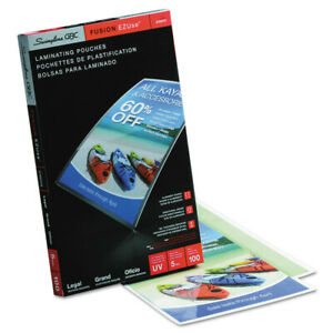 Swingline Ezuse Thermal Laminating Pouches 5 Mil 9 X 14 1 2 100 box 3740473 New