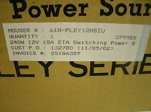 Pley12hsz u Switching Power Supply 240w 12v 18a By Eta Electronic
