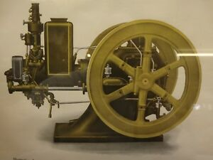 Ihc Mogul Side Shaft Original Color Framed Print Old Gas Engine