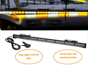 36 Warning Strobe Light Bar 32 Led Beacon Hazard Emergency Light Amber