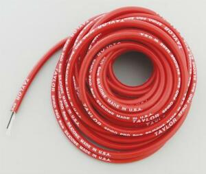 Taylor Cable Spark Plug Wire Spiro pro Spiral Core 8 0mm Red 30 Ft Length Each