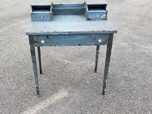 Primative Antique Blue Desk