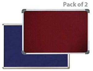 Combo Of 2 Notice Board Blue Maroon 1 5 X 2 Feet