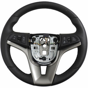 94516456 Steering Wheel Black Leather W Black Stitch 2015 17 Chevy Sonic