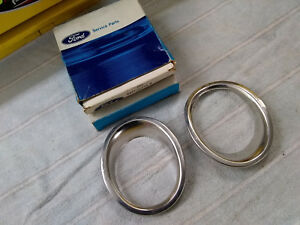 1965 1966 1967 Mustang Shelby Gt350 Gt500 Fastback Nos Exhaust Trim Rings