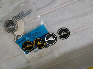 1969 1970 1971 1972 Mustang Magnum 500 Wheel Center Decals Nos Original 351 Boss