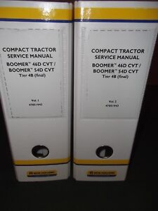 New Holland Boomer 46d 54d 4b Cvt Tractor Service Shop Repair Workshop Manual