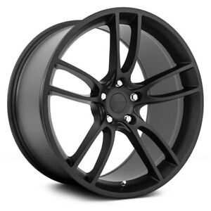 19x11 19x11 5 Gt Style Fit Ford Mustang 5x114 3 24 55 Matte Black Wheels Set 4