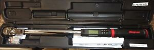 Snap On Tools 1 2 Drive 12 5 To 250 Ft Lb Techangle Torque Wrench Atech3f250b