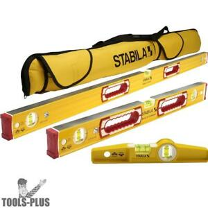 Stabila 48296 Mason Level Set 48 24 Torpedo Case New