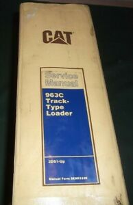 Cat Caterpillar 963c Track Loader Service Shop Repair Manual Book S n 2ds1 up