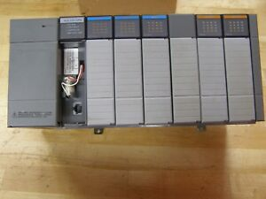 Allen bradley Slc 500 Rack Including Power Supply Cpu 3 Input 2 Output Modules