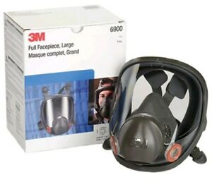 Genuine New 3m Large Full Face Respirator 6900 Includes Filters 4 Filters