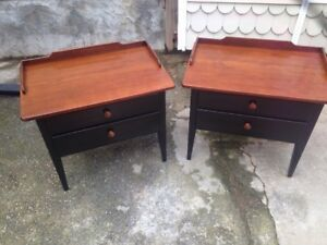 Two Country Lane End Or Night Tables Mid Century Modern Solid Wood