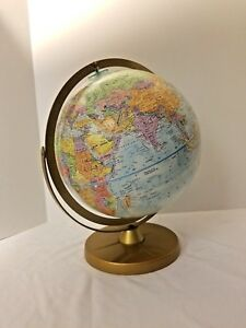 Vintage Replogle World Nations Series 12 Globe Double Axis Textured Globe