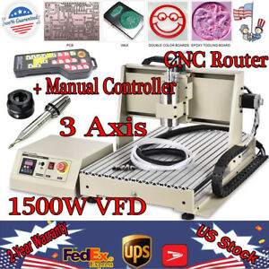 3 Axis Cnc 6040 Router 1500w Engraving Machine Mill 3d Cutter Remote Controller
