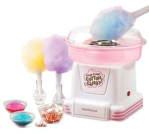 Nostalgia Pcm805 Party Tabletop Floss hard Cotton Candy Maker Machine Kit W cone