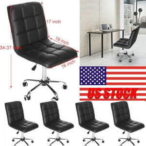 Pu Leather Office Chair Executive Ergonomic Desk Task Computer Chair Mid Back Us