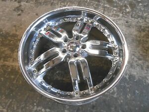 Giovanni 22 Inch Rim Wheels Se 4 Rims Used Came Off 2006 Land Rover Rk0174