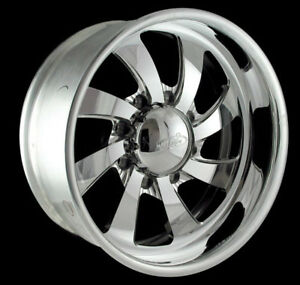 Intro Custom Billet Wheels Set 17x8 Twisted Blade 8 lug 3 4 ton Chevy gmc 2500hd