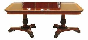 L30324ec Baker Neoclassical Banded Top Mahogany Dining Room Table