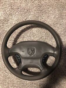 2003 Dodge Ram 2500 1500 Oem Black Steering Wheel Cruise Oem