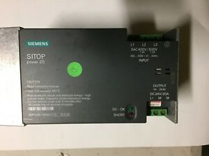 Siemens Power Supply 24v 20a Unit Used But In Full Working Order