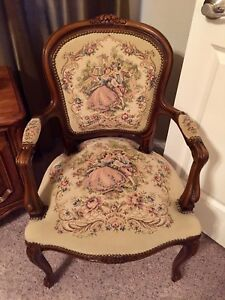 French Louis Xv Style Italian Arm Chair Tapestry Chateau D Ax Spa
