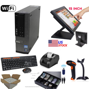 Complete Turn key Retail Point Of Sale System pos System I5 Dell touchscreen