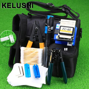 13 Pcs set Ftth Fiber Optic Tool Kit With Fc 6s Cleaver 5mw Visual Fault Locator