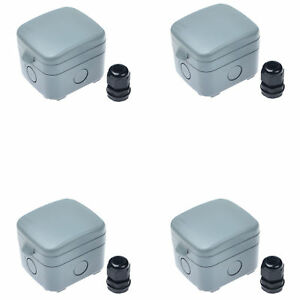 4set Outdoor Switched Fuse Electrical Connection Box Case 1 gang Fused Ip66 15a