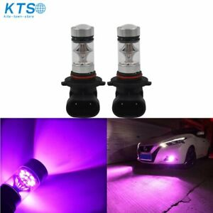 New 2x 9006 Hb4 14000k Purple Cree Led 100w Headlight Bulb Kit Fog Driving Light