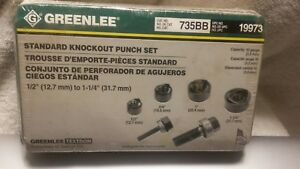 New Sealed Greenlee Slug Buster 735bb Ball Bearing Knockout Punch Set Knock Out