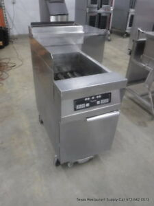 Frymaster Dean Gas Single Digital Deep Fryer With Grease Filtration System