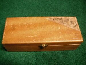 Vintage Everett Syringe Wood Box 60 Dean Foster Co Boston Mass Hospital Needle
