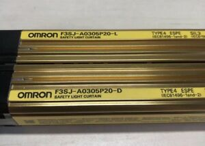 Omron Safety Light Curtain F3sj a0305p20 d And l Pair