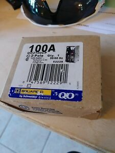 Square D Qo2100cp 100a 2 Pole 120 240v Circuit Breaker By Schneider New In Box