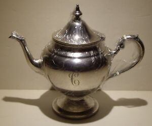 Gorham Sterling Silver Serving Pot Tea Or Coffee 452 2 1 2 Pint Engraved C