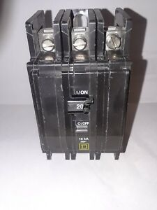 Square D Qou320 3 Pole 20 Amp 240vac Circuit Breaker New