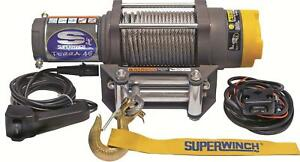 Superwinch Terra 45 Atv Winch 1145220 4500 Lbs 1 4 x55 Line Roller Fairlead