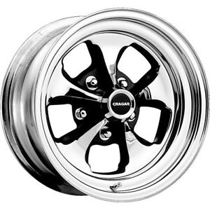 2 New 15x6 Cragar 32c Keystone Klassic Chrome Wheels Rims 03 5x4 50