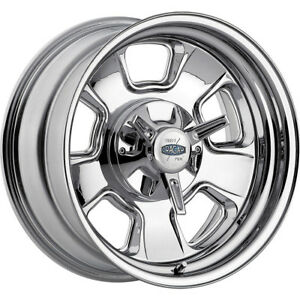 1 New 15x8 Cragar 390c Street Pro Chrome Wheel Rim 06 5x4 50 5x4 75