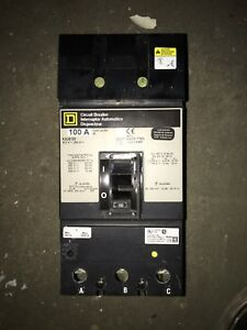 Square D Ka36100 Circuit Breaker 100a 600v 100 Amp 3 Pole