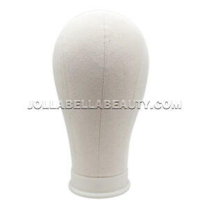 R b Mannequin Canvas Cork Head Wigs Display Block With Mount Hole 22