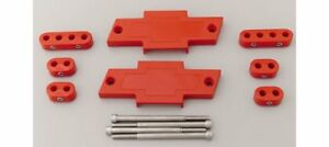 Mfy Ignition Wire Loom Separator Centerbolt Bowtie Polymer Red 7 8mm Sbc Kit