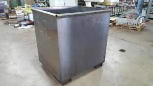 43 X 59 X 52h Steel Industrial Scrap Bin Container Heavy Duty can Ship